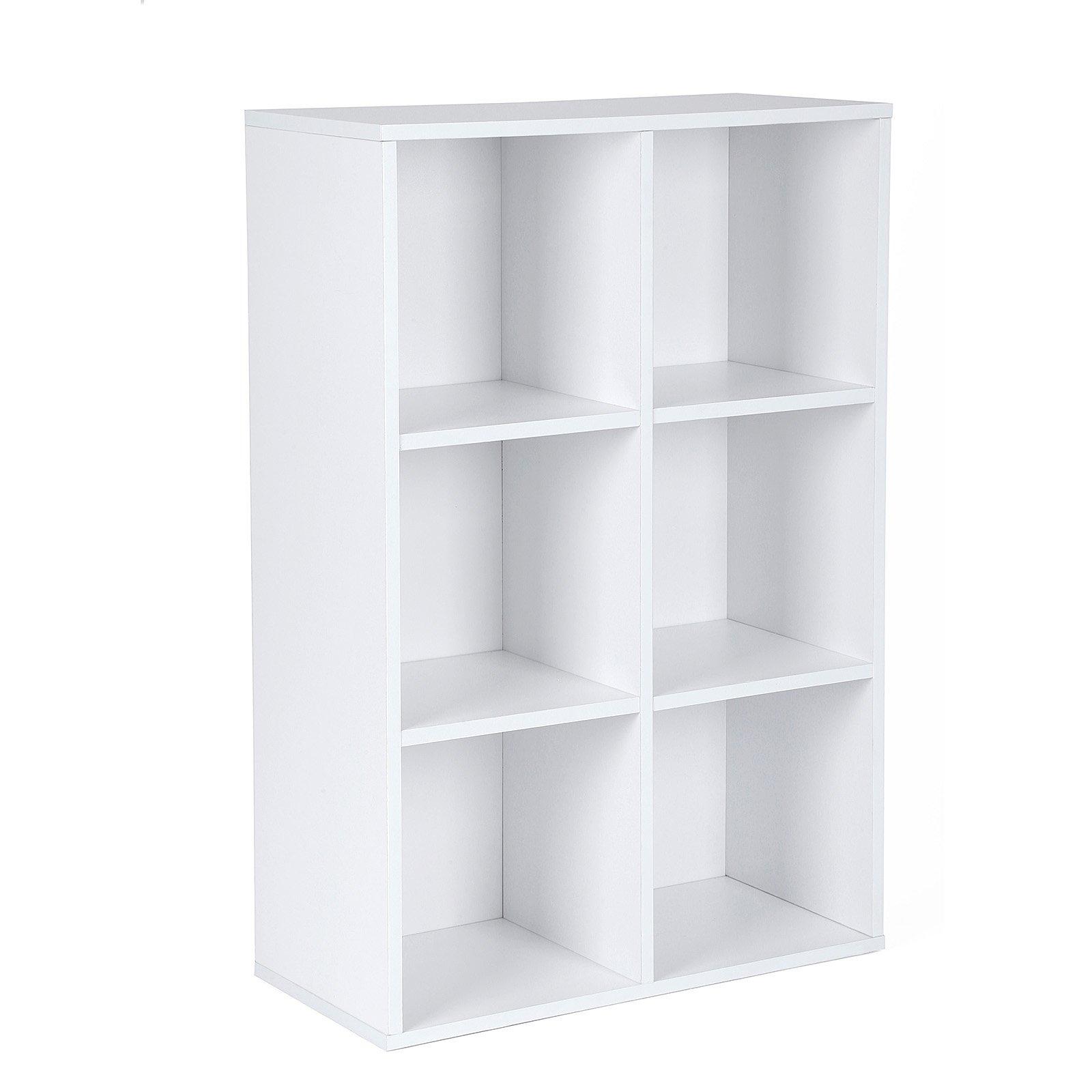 VASAGLE Librería Estantería Biblioteca con 6 Compartimentos 65,5 x 30,5 x 97