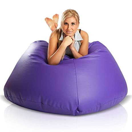 Turbo BeanBags Maxi Bean Bag Chair, Large, Violet