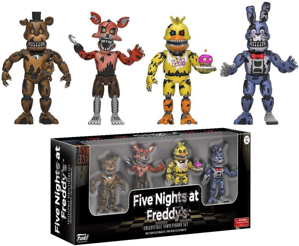 Set 4 Figuras Five Nights at FreddyS: Amazon.es: Juguetes y juegos