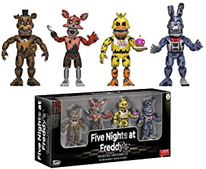 """Funko Five Nights at Freddy's 2"""" Nightmare Edition Vinyl Figure Four Pack"""