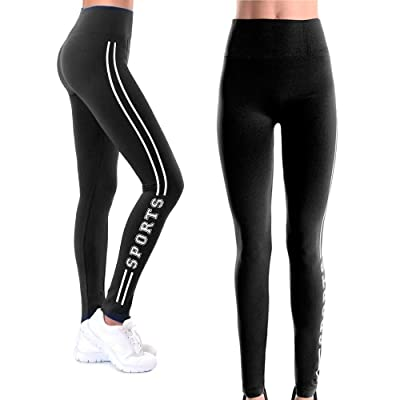 Women Sports Athletic Wear Leggings Sweat Pants Gym Yoga Running Fitness Black