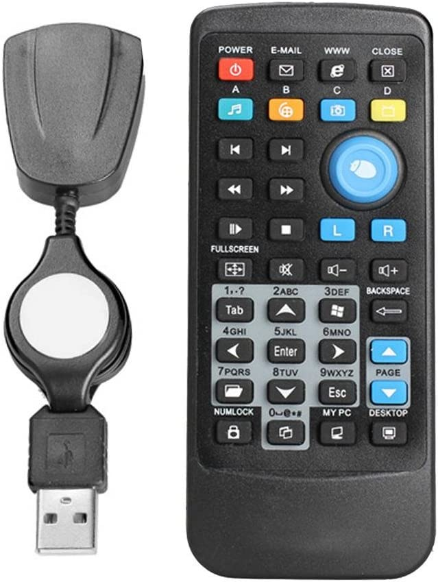 Asiright - Mando a Distancia inalámbrico USB para Ordenador portátil, ratón, Teclado, Controlador Central: Amazon.es: Electrónica