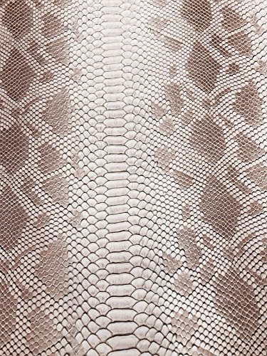 (Tan/brown Faux Viper Snake Skin Vinyl-faux Leather-3D Scales-sold By The Yard.)