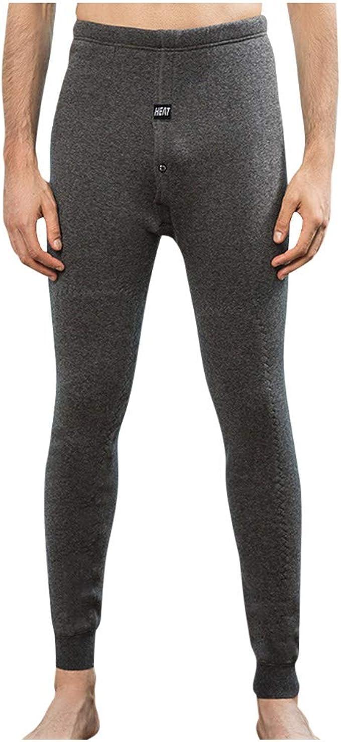 beautyjourney Pantalones de Lana de Invierno para Hombre Leotardos ...