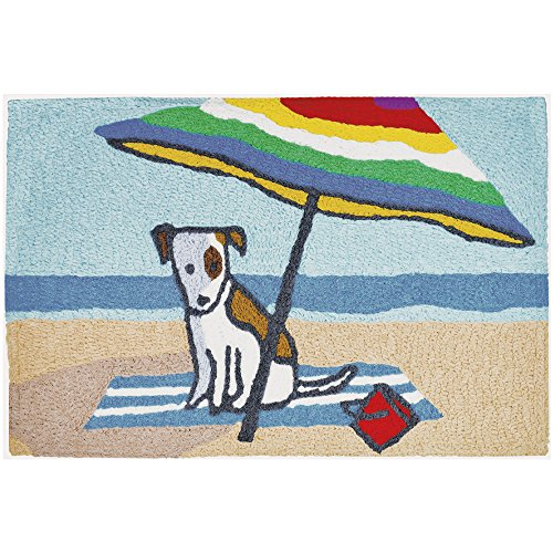 "Price comparison product image Jellybean Beach Bum Coastal Indoor/Outdoor Machine Washable 21"" x 33"" Accent Rug"