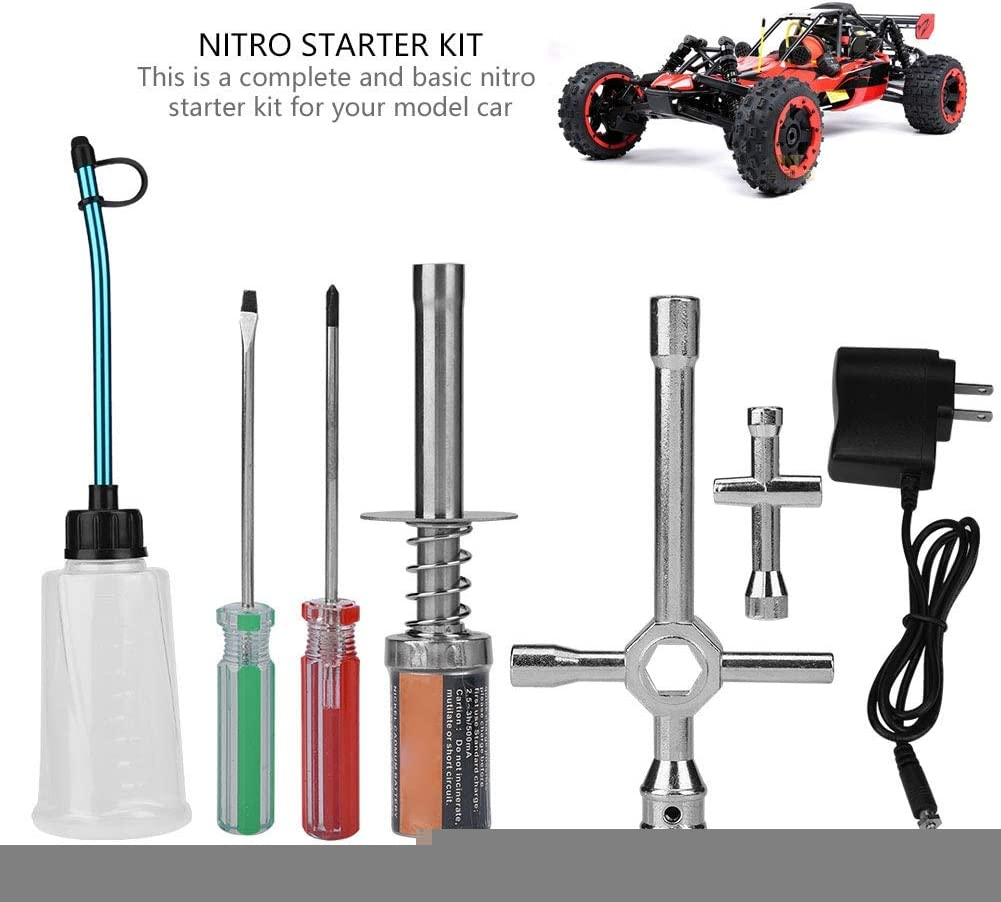 Tbest Nitro Starter Kit Glow Plug Igniter with Charger RC Truck Buggy Car Part for HSP redcat