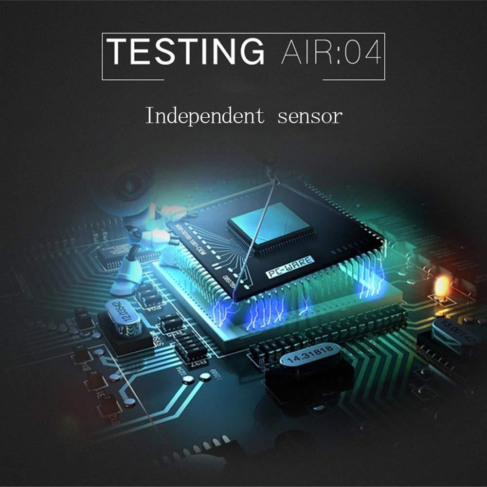 Monitor de calidad del aire sensor láser PM 2.5 detector medidor de ruido digital 30 to130dB gran LCD colgante de pared tipo medidor de nivel de sonido de ...
