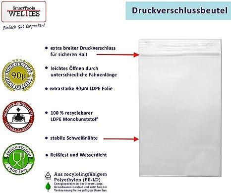 100Stk Druckverschlussbeutel Zip-Beutel Baggies 50mµ mit Hanfblatt-Logo Inhalt