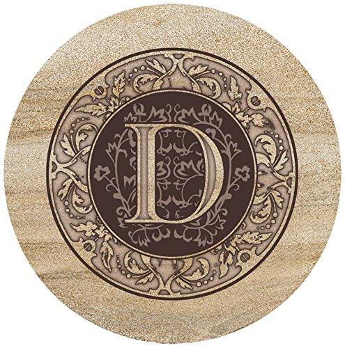 Thirstystone Sandstone Trivet Monogram D