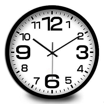 FortuneVin Reloj de Pared Moderno Decoración Adorno para Hogar Reloj de Cocina Cuarzo12,CW143campo Cuadro Dinero Black-Black: Amazon.es: Hogar