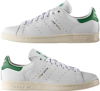 buy popular d08ac edd68 adidas Scarpe Unisex Sneakers Stan Smith in Pelle Bianca S75074