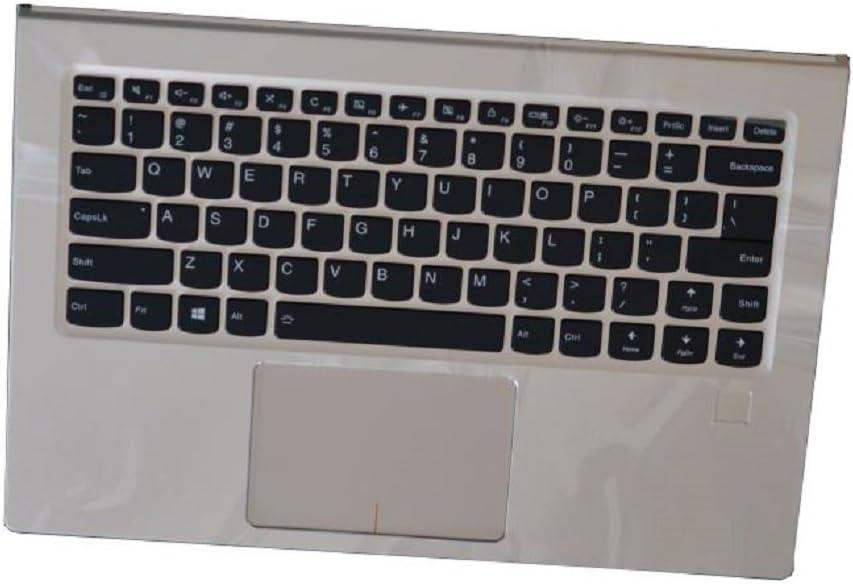 Laptop PalmRest&Keyboard for Lenovo Yoga 910-13IKB English US 5CB0M35092 Upper Case 80VF Silver 95% New