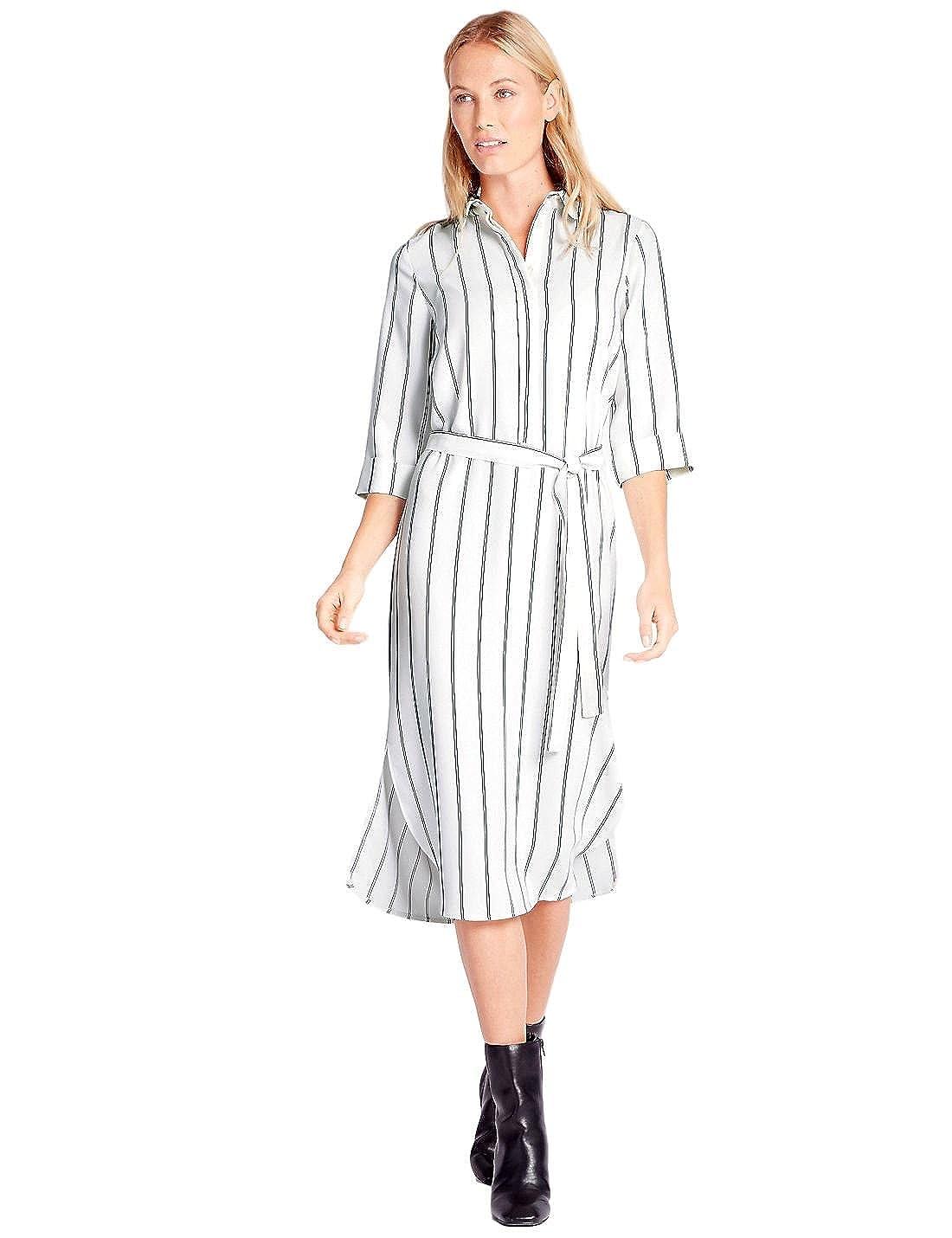 EX M&S Damen Kleid weiß beige