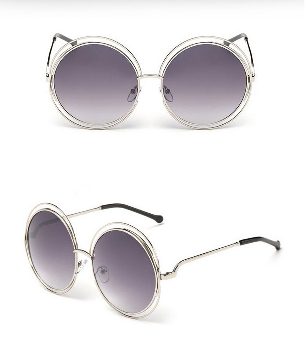 2fd1db8be6 Sunglasses QDA Gafas de Sol Gafas de Sol de Metal de Rejilla Redonda (tamaño  Grande/Gafas de Sol Ocean Color/Gafas de Sol Retro 11: Amazon.es: Hogar