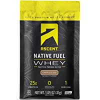 Ascent Native Fuel Whey Protein Powder - Cappuccino - 15 Single Serving Packets