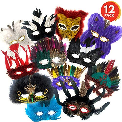ArtCreativity Feather Masks Assortment for Kids