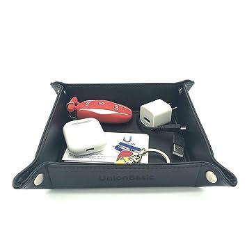 unionbasic Totalmente Piel Sintética Jewelry catchall clave teléfono Coin caja bandeja de cambio Caddy Caja de