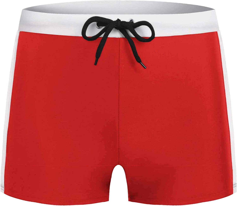 COOFANDY Mens Swimwear Sports Shorts Swim Trunks Beach Board Shorts Swimsuit Bottom Black Boxer Briefs