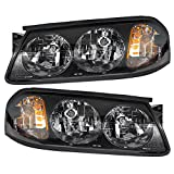 Driver and Passenger Headlights Headlamps Replacement for Chevrolet 10356097 10356098