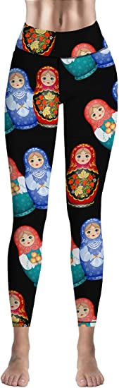 Eelivero High Waist Yoga Pants Tummy Control Workout Leggings,Christmas Fantasy Stars
