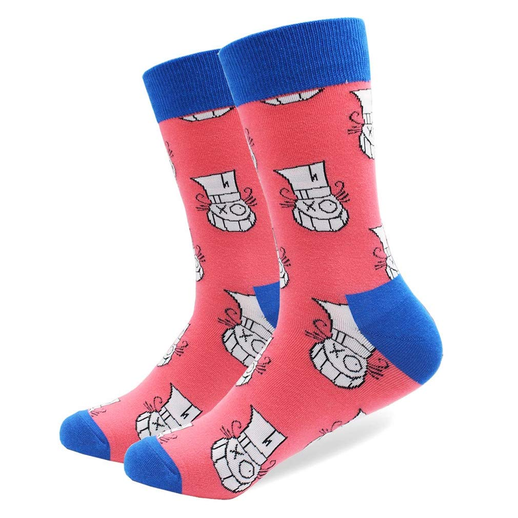 EU 8-10 41-46 FLJKLXLS 1 Pair Winter Spring Happy Socks New Cotton Men Crew Skateboard Socks Funny Pattern Wedding Socks Gift 080-5 US