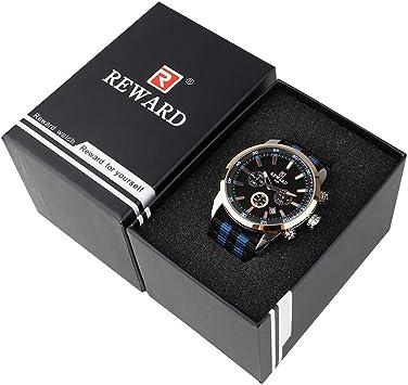 Fesjoy Estuche para relojes Estuche para relojes Organizador con soporte para relojes Relojes profesionales Cajas de joyas Estuche para almacenamiento de relojes Bandeja de almacenamiento para hombres: Amazon.es: Juguetes y juegos