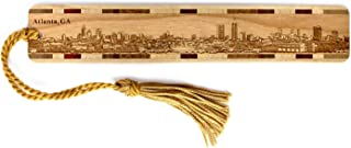 product image for Atlanta, Georgia Skyline - Engraved Wooden Bookmark with Tassel - Also Available Personalized