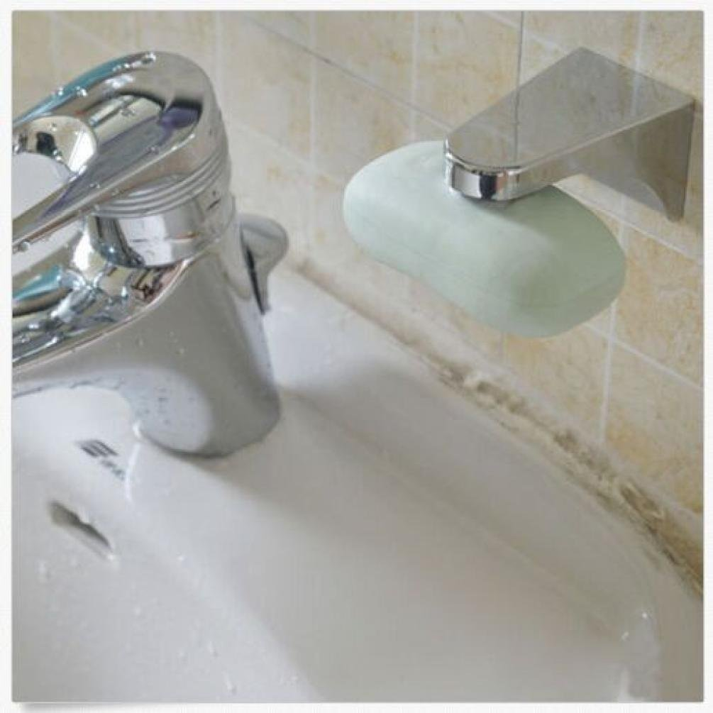 Prodotto ideale per bagno e cucina supporto magnetico per sapone realizzato in metallo HLHN con fissaggio alla parete