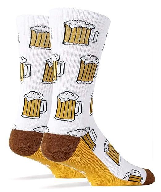 Pommaxe Oktoberfest calcetines para mujer Calcetines divertidos Estampado de cerveza Estampado divertido unisex Calcetines cálidos de otoño: Amazon.es: Ropa ...