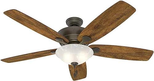 Hunter Regalia II 60-in New Bronze LED Indoor Ceiling Fan