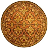 Safavieh Antiquities Collection AT54B Handmade Traditional Oriental Sage and Gold Wool Round Area Rug (6' Diameter)