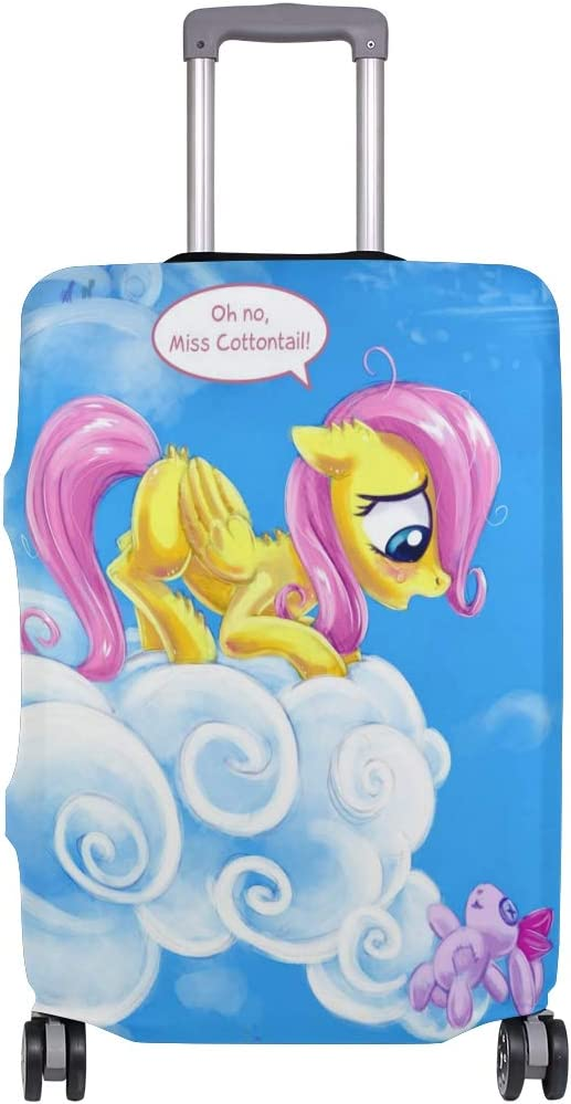 My Little Rainbow Pony Cloud Travel Luggage Cover Suitcase Protector Fits 26-28 Inch Washable Baggage Covers