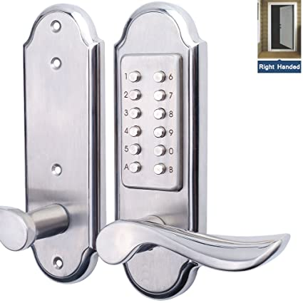 Right Handed Keyless Mechanical Door Lock Digital Combination Security Keypad  Entry Lock Stainless Steel 304 For