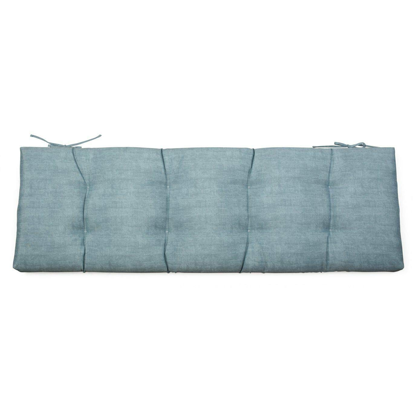DN_HOM Wonderful Outdoor 55'' Tufted Bench Cushion Pad Collection for Patio Furniture (Light Blue) by DN_HOM