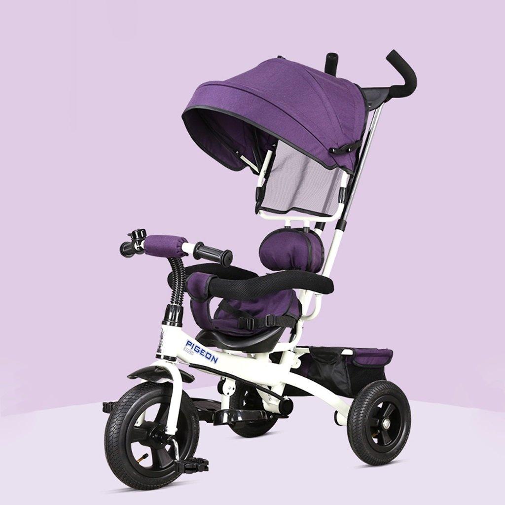 子供の三輪車1-5歳の赤ちゃん/子供用自転車ベビーカー、赤/紫/青、75 * 50 * 103センチメートル ( Color : Purple ) B07BZZKDTD