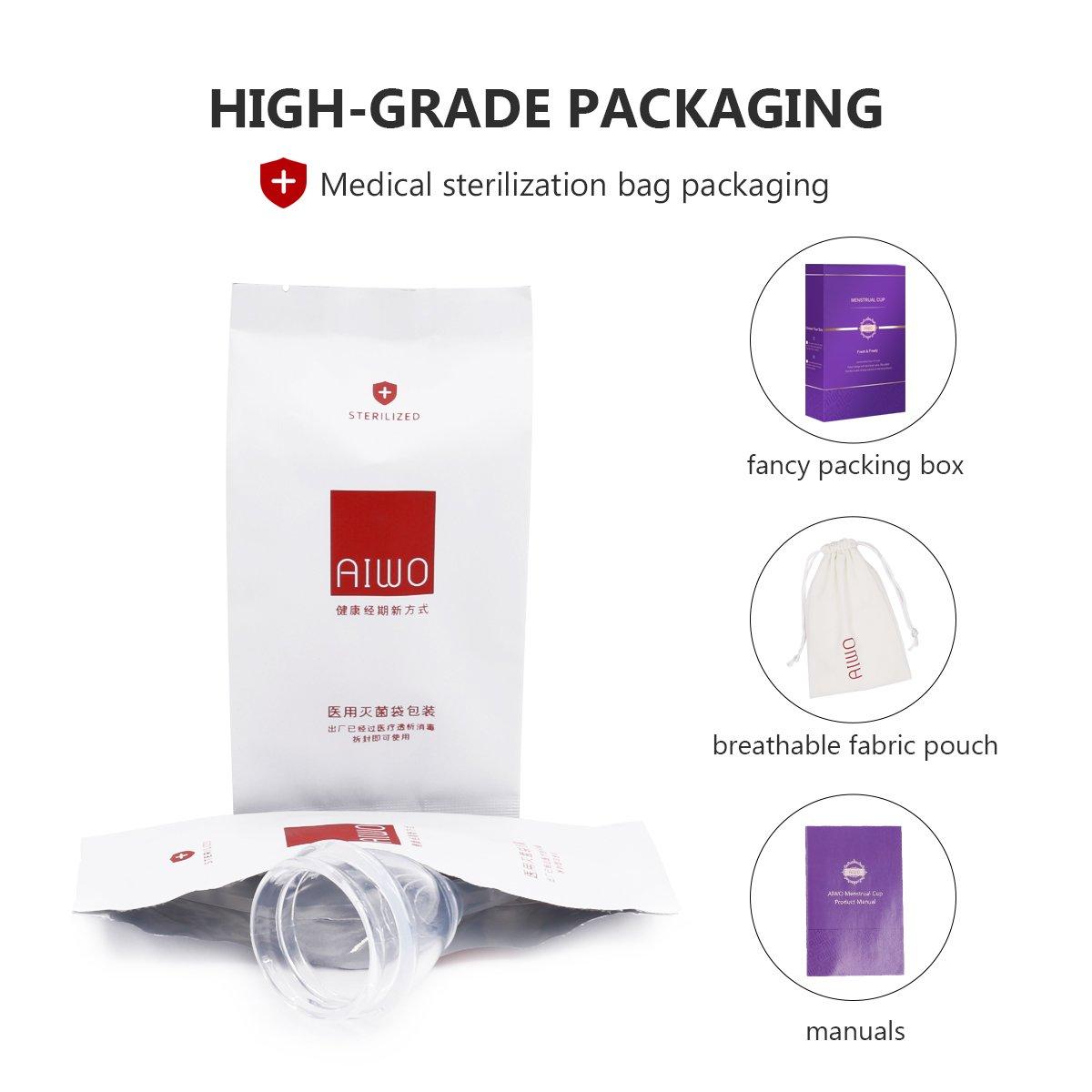 Copa menstrual - paquete estéril & válvula de descarga - vacía tu copa sin quitártela - Copa de menstrual orgánica para mujer - Alternativa de tampón y ...