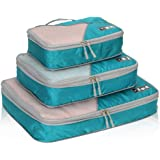 Hynes Eagle Travel Compression Packing Cubes Expandable Packing Organizer 3 Pieces Set Teal