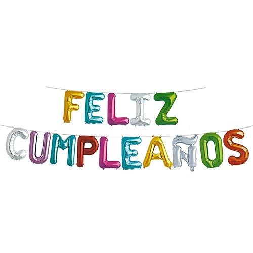 Amazon.com: Feliz Cumpleanos Feliz globos de cumpleaños ...