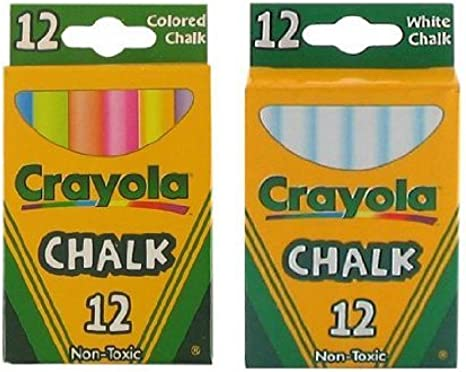 Crayola Chalk Assorted Colors 12 ct Box Pack of 8