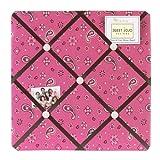 Sweet Jojo Designs Cowgirl Pink Bandana Print Fabric Memory/Memo Photo Bulletin Board