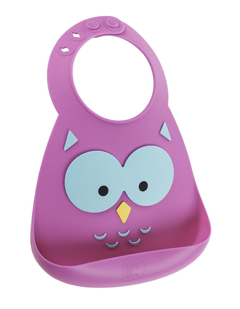 No. 8 Brands 74572 Baby Bib Owl Make My Day MMD-BB110