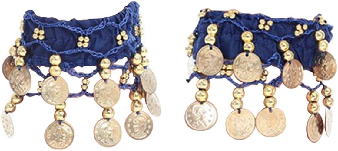 1 CAVIGLIERA color argento 3 file con piccole pietre azzurre