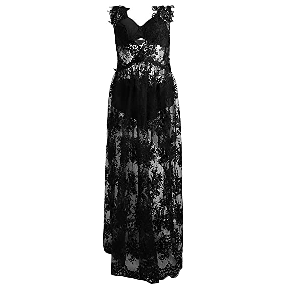 Maternity Maxi Photography Dress Embroidery Pregnancy Gown For