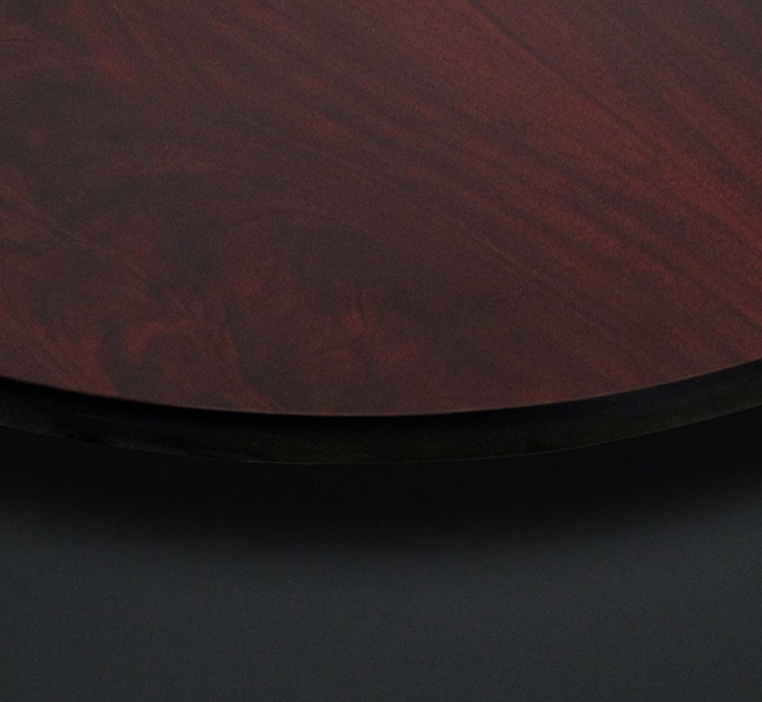 Flash Furniture 36'' Round Table Top with Black or Mahogany Reversible Laminate Top by Flash Furniture (Image #2)