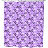 Uneekee Paisley Meets Flower Shower Curtain: Large Waterproof Luxurious Bathroom Design Woven Fabric
