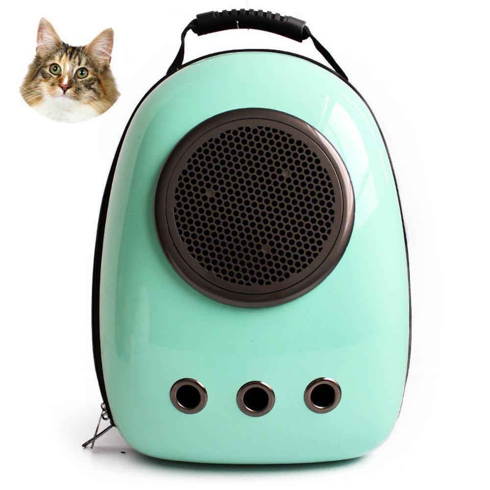 Daeou Pet Backpack Cat Dog Space Cabin pet Bag cat Dog Out Shoulder Backpack Portable Breathable Guolu PVC 29  23  42cm