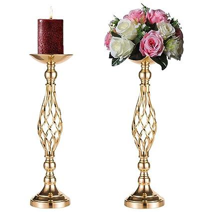 Amazon Sziqiqi 2 Pcsset Metal Flower Vase Weddingparty