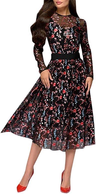 Vestiti Eleganti Fiorati.Abito Donna Trasparente Vestito Donna Lunghi A Fiori Abiti Donna
