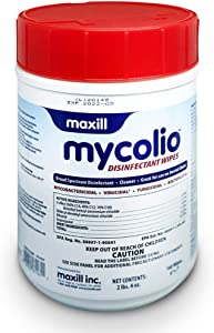 """Mycolio Hospital Grade Disinfectant Wipes 160 Wipes - 6"""" x 7"""" - Disinfecting Antibacterial Sanitizing Cleaning Wipes"""