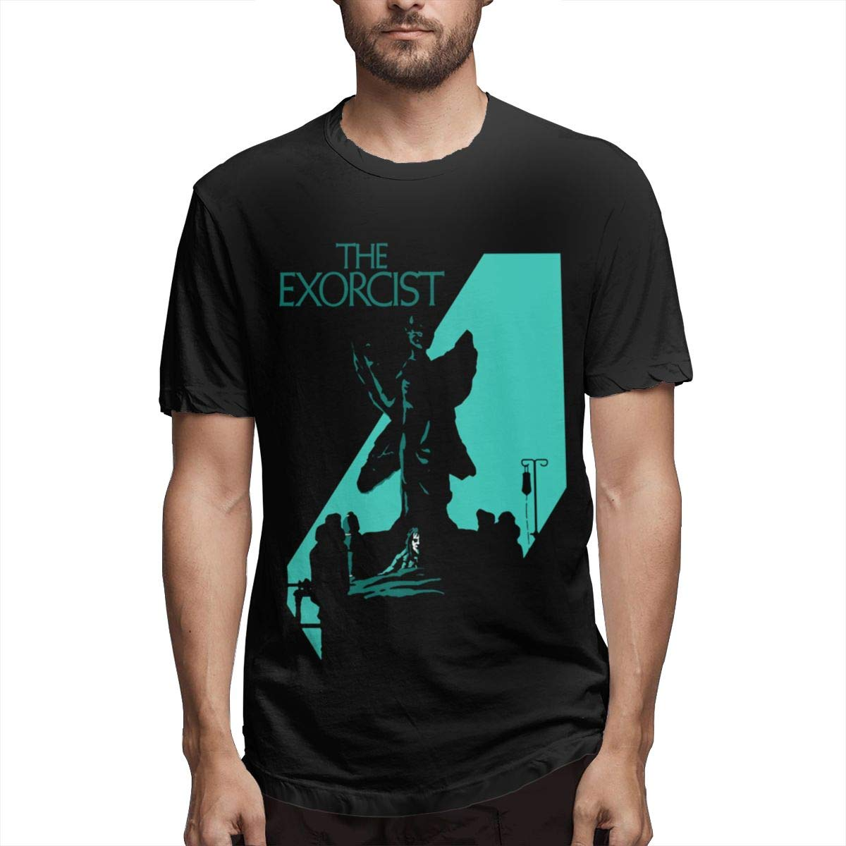 Smooffly Men The Exorcist Ultra Soft Crew-Neck Short Sleeves Tee